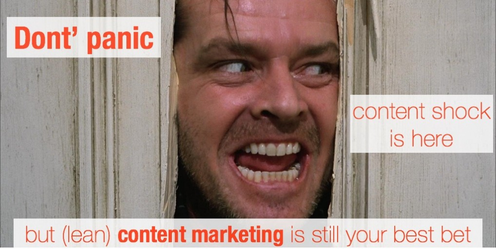 Don't panic- yes, content shock is here but (lean) content marketing is still your best bet