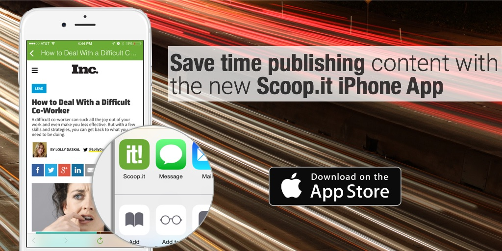 Save time publishing content with the new Scoop.it iPhone App