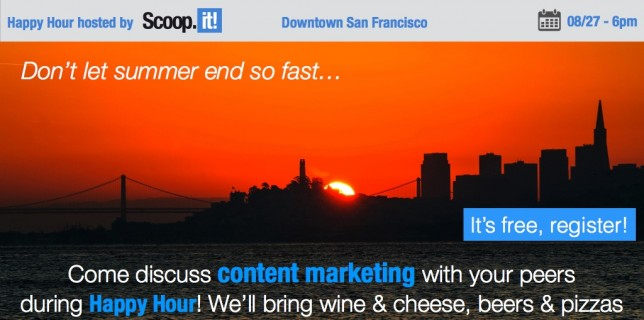 happy hour SF content marketing