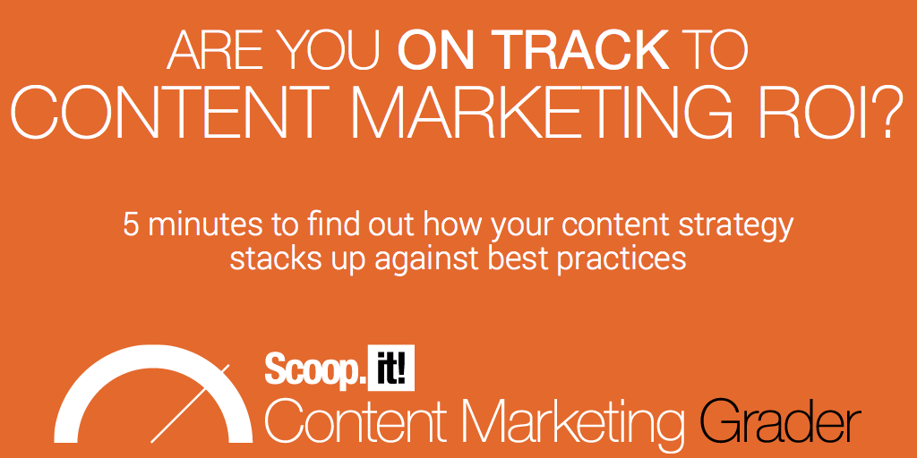 scoopit content marketing roi grader influencers