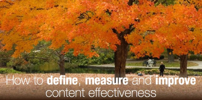 How B2B marketers should define, measure and improve their content effectiveness