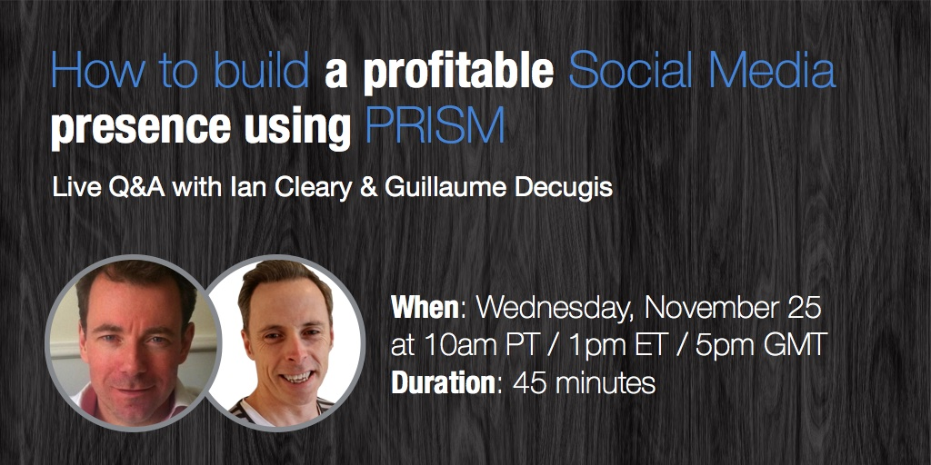 How to build a profitable social media presence using PRISM