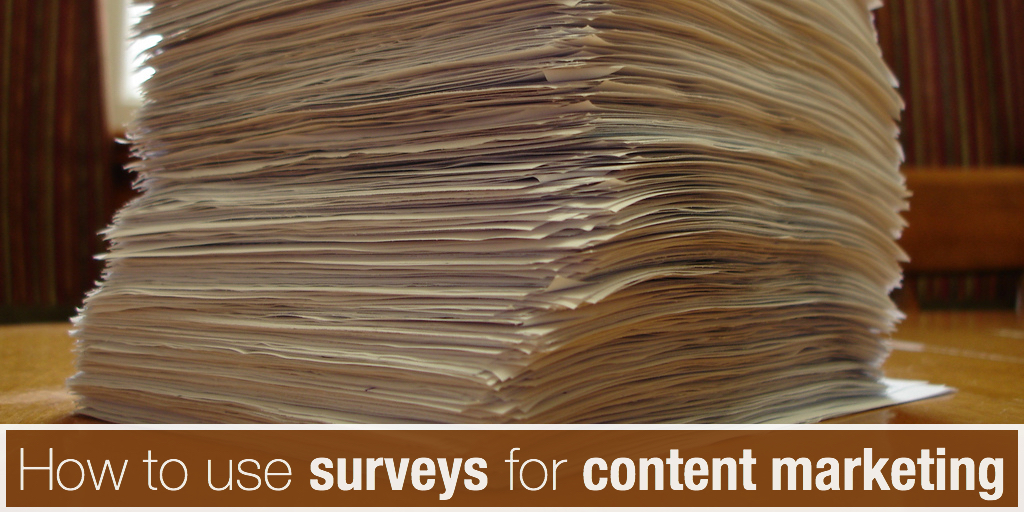 How to use surveys for content marketing