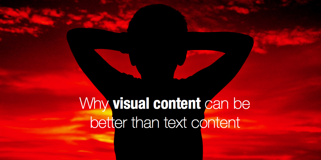 4 examples when visual content is better than text content