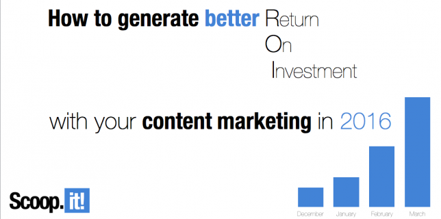 how to generate ROI out of your content marketing in 2016 webinar