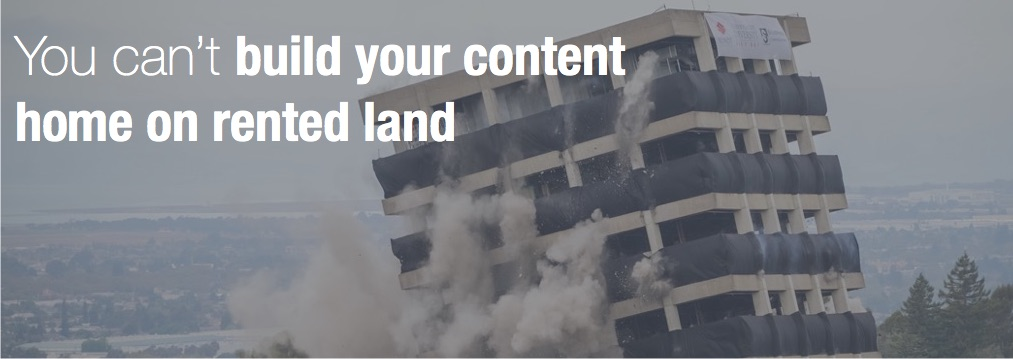 cant build your content home on rented land