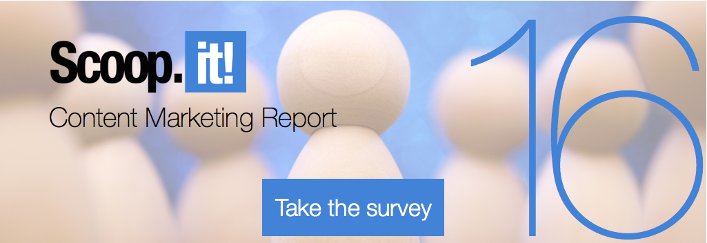 scoop.it annual content marketing report 16 CTA take survey