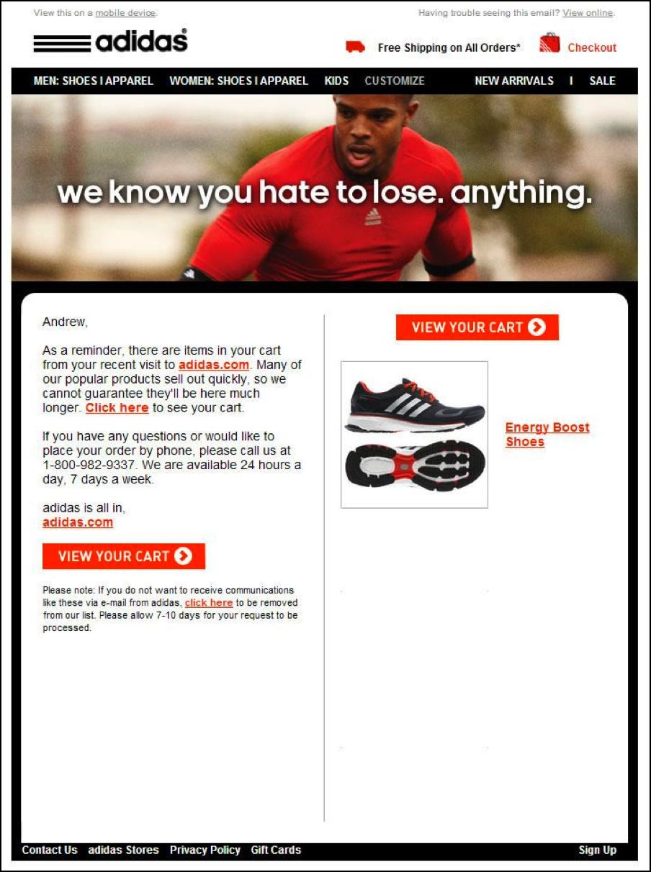 3 Adidas abandonment