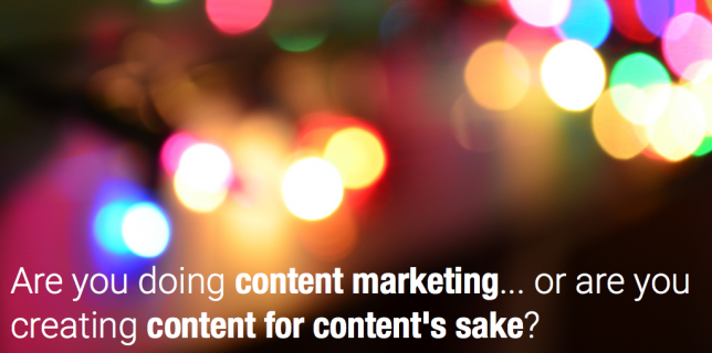 content marketing vs content creation