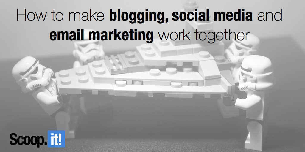How to make blogging, social media and email marketing work together