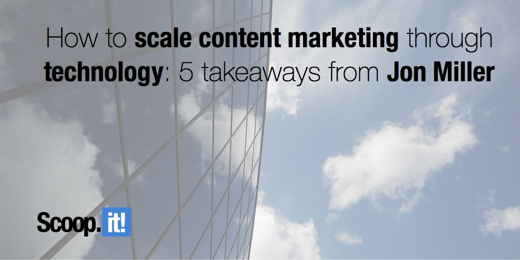 How to scale content marketing through technology