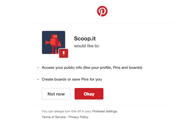 Pinterest allow Scoopit