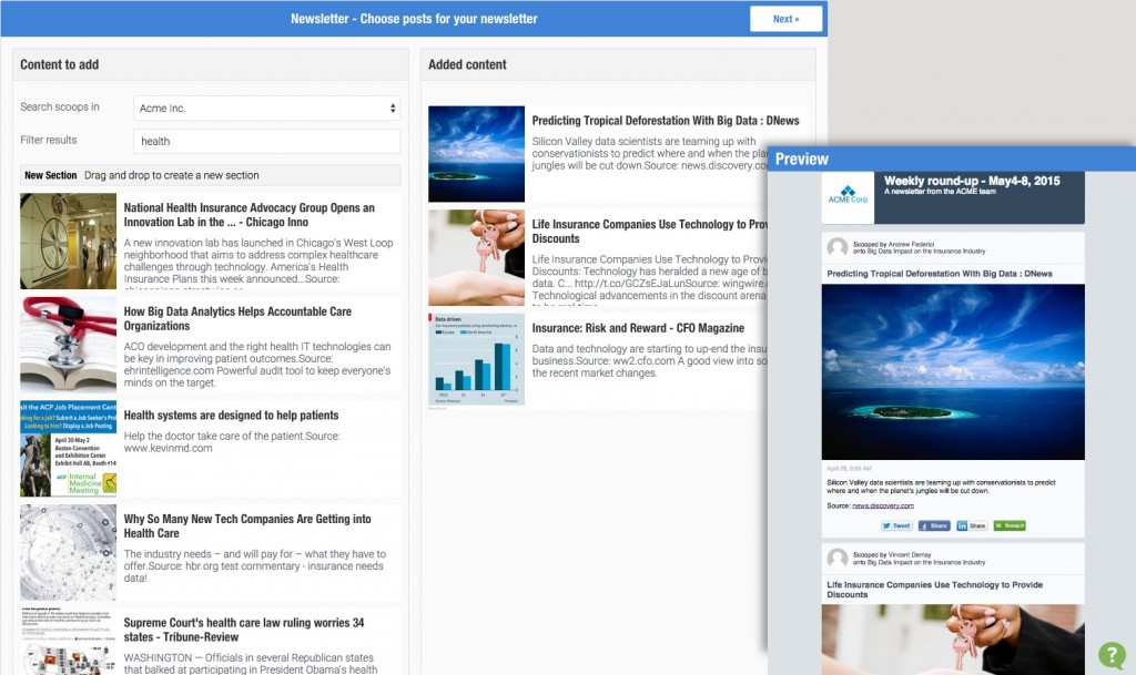 Scoopit-content-director-Newsletter-Preview-the-newsletter