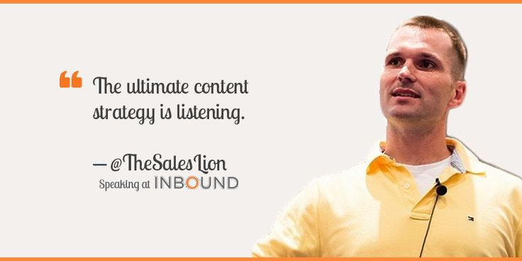 The ultimate content strategy is listening Marcus Sheridan