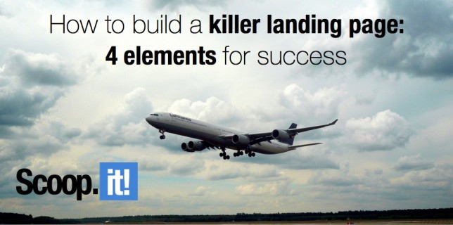 how to build a killer landing page