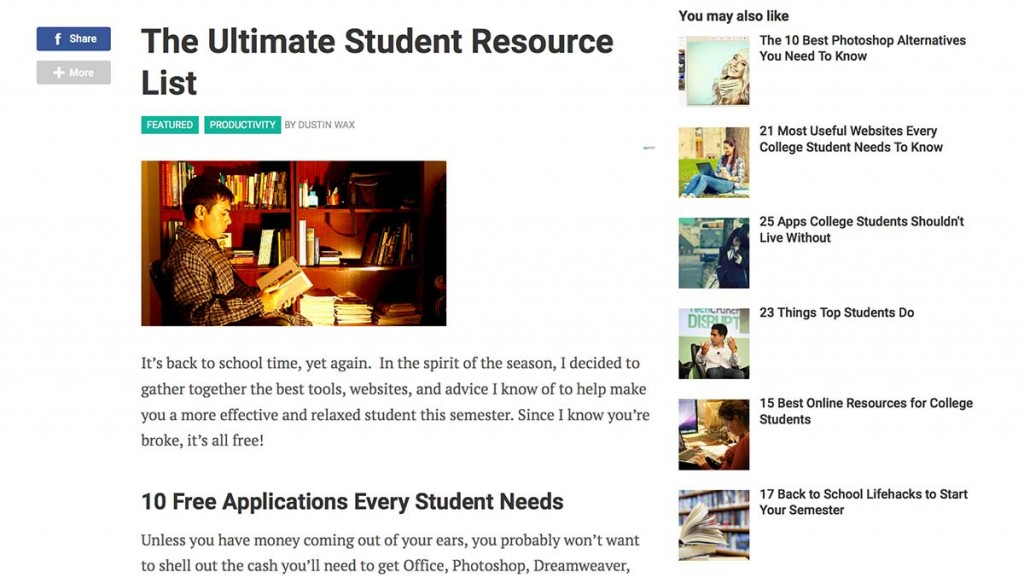 A resource list from LifeHacker