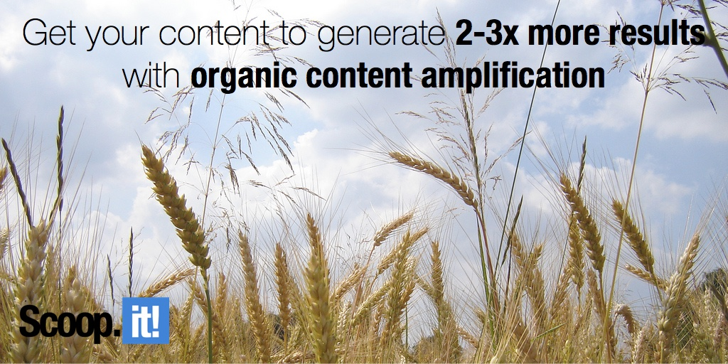 get your content to generate 2-3x more results with organic content amplification