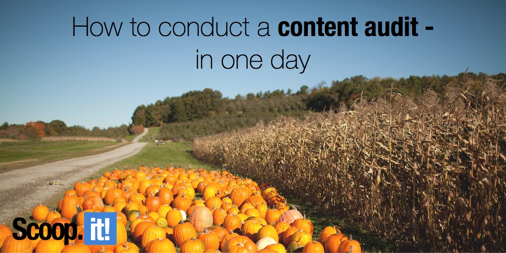 how to conduct a content audit in one day