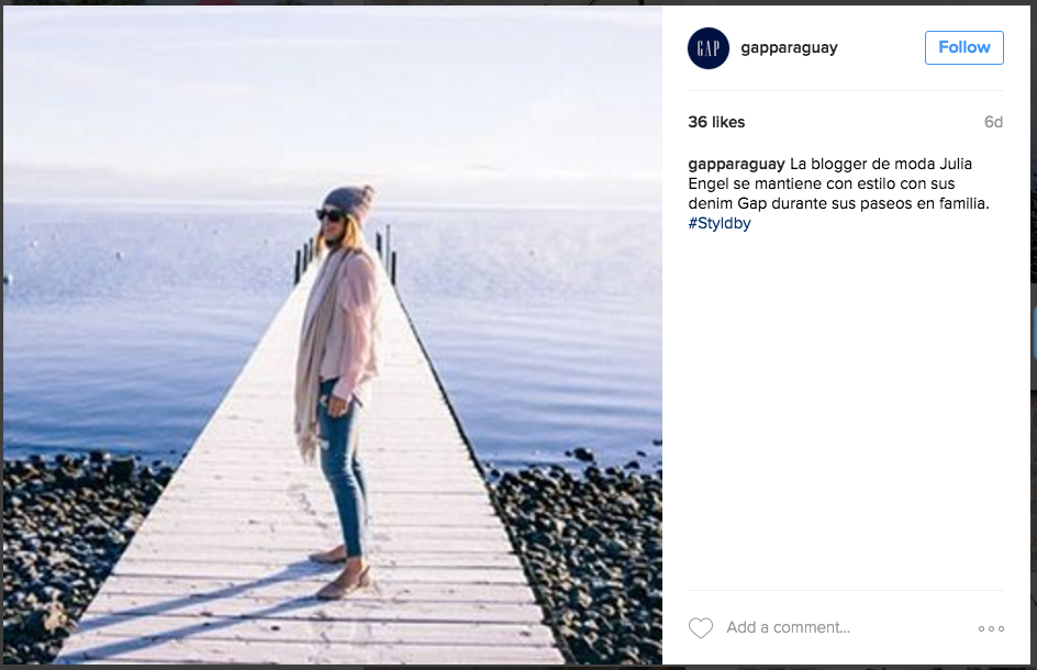 6 content tips Instagram marketing Gap