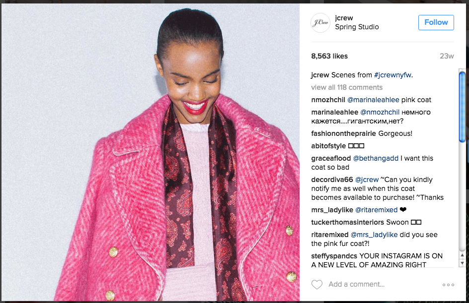 6 content tips Instagram marketing J. Crew