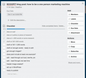 Use checklists for more efficient work flows