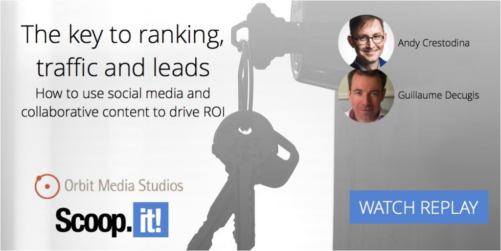 The key to ranking traffic and leads - webinar replay