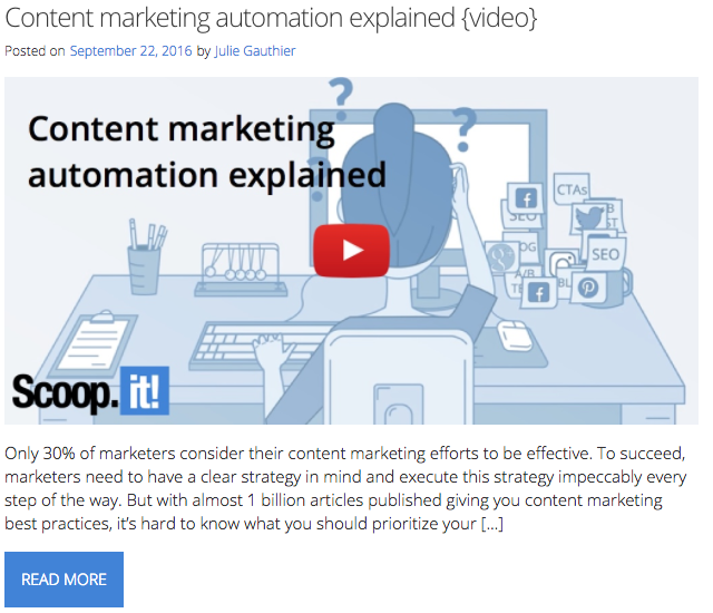 blog post content marketing automation
