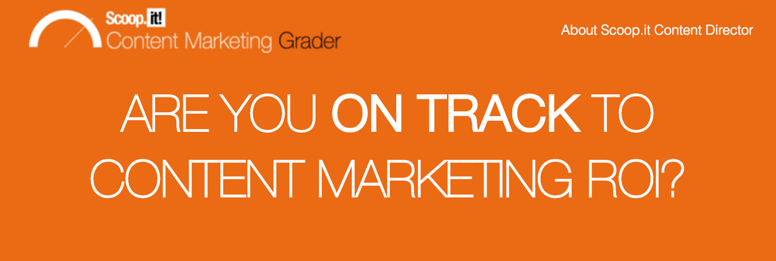 Content marketing grader