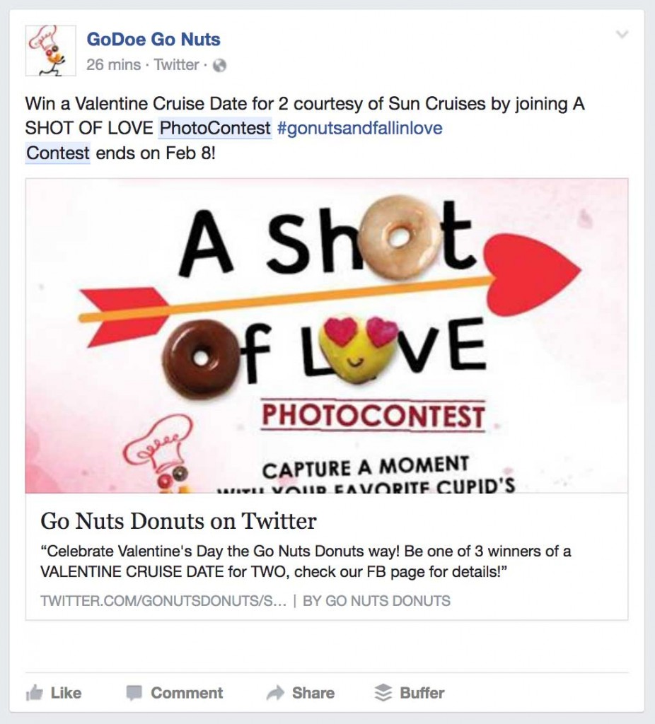 A Facebook photo contest is user generated content