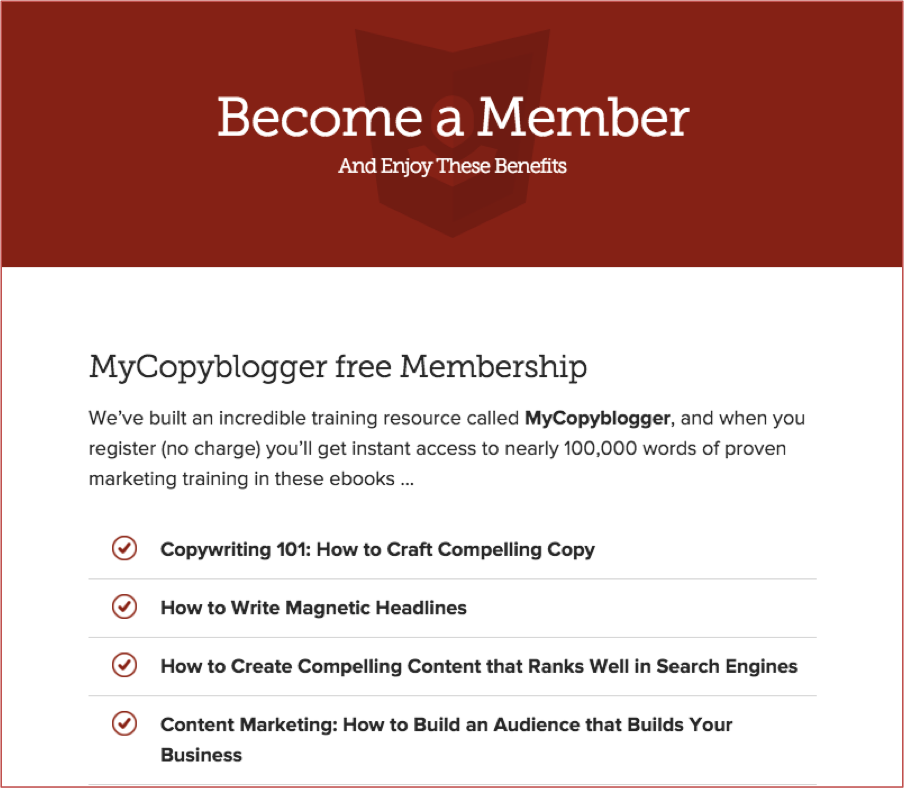My coppyblogger membership