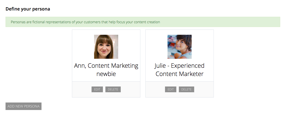 Define your audience or customer personas before you start filling in your editorial calendar.