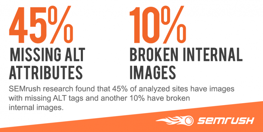 Nearly half of all websites are neglecting their image alt tags. It's crippling their visual content marketing