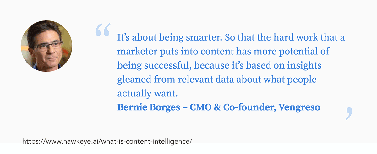 not just more data - more actionable insights