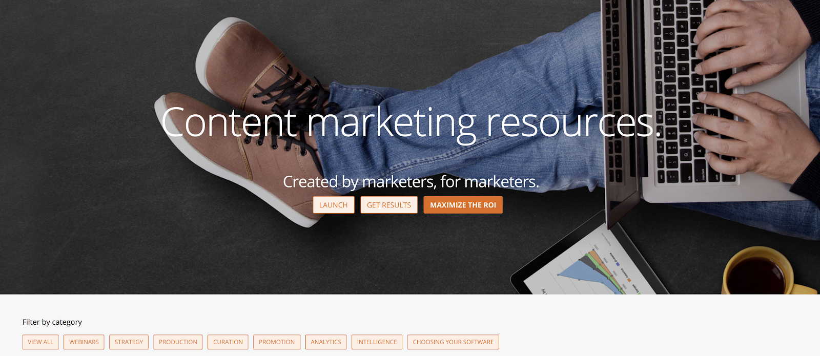 Content hub example from Scoop.it