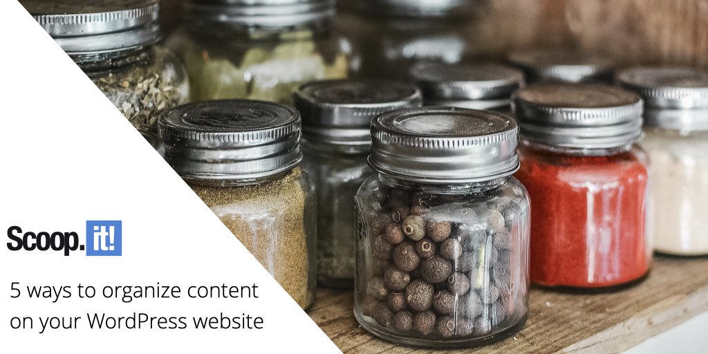 5 ways to organize content on your WordPress website