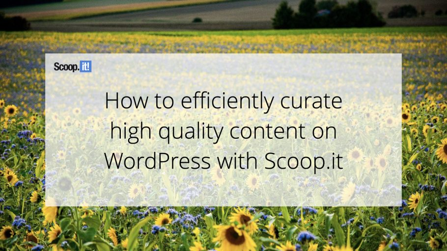 How to efficiently curate high-quality content on WordPress with Scoop.it
